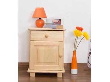 Table de nuit en bois de pin massif blanc 011 – Dimensions: 55 x 42 x 35 cm (L x H x P)