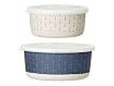 bloomingville Lot de 2 Box Bamboo Bleu