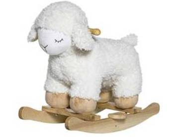 bloomingville Mouton à Bascule - Blanc