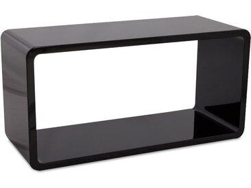 Cube de rangement 'UNO' en bois noir