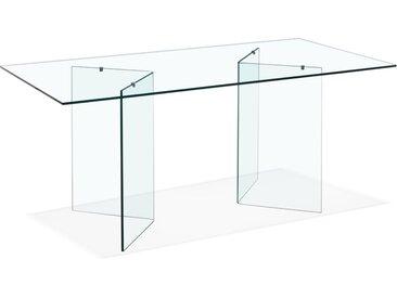 Bureau / Table de salle à manger en verre 'BOBBY TABLE' design -