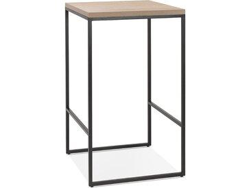 Table haute design 'STRAMOS' finition naturelle avec structure n