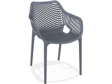 Chaise de jardin / terrasse 'SISTER' grise foncée en matière pla