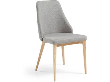 Chaise Rosie gris clair finition naturelle