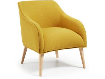 Fauteuil Bobly, moutarde