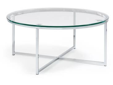 Table basse Divid 80cm, verre