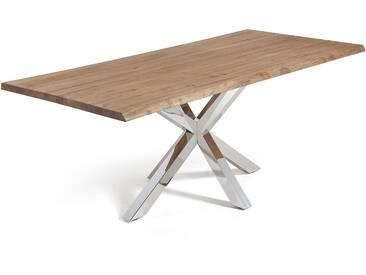 Table New Argo 220x100, Inox Chêne Vieilli