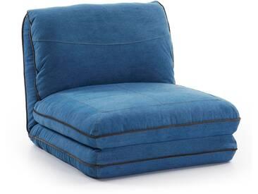 Chauffeuse Moss, bleu