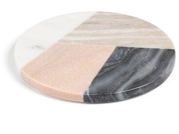 Dessous de plat rond Bradney marbre multicolore