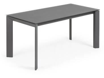 Table extensible Axis 160 (220) cm graphite pieds en graphite