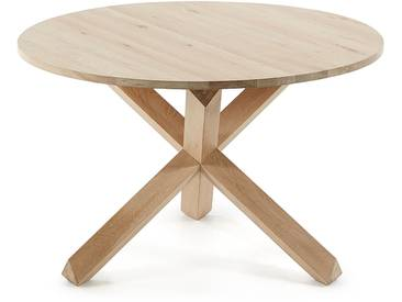 Table ronde Lotus bois
