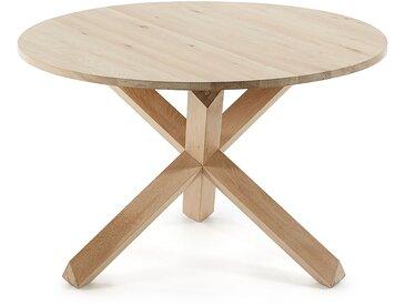 Table ronde Lotus bois