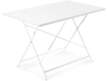 Table rectangulaire Alrick blanc