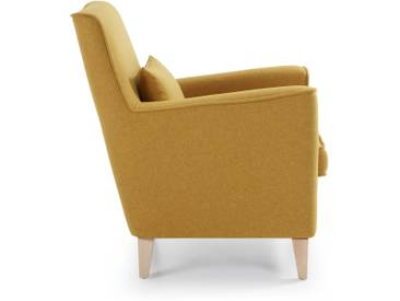 Fauteuil Glam, moutarde