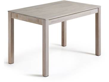Table extensible Isbel 120 (200) x 75 cm blanchi