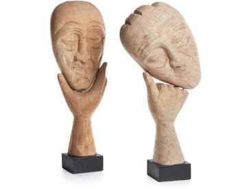 Set de 2 statuettes Bataan