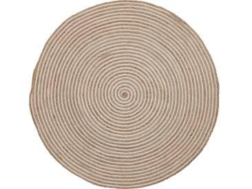Tapis Saht Ø150 cm naturel et blanc