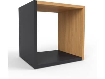 Range CD - noir, design contemporain, meuble pour vinyles, DVD - 41 x 41 x 35 cm, personnalisable
