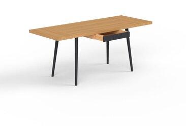 Table à manger - chêne, design scandinave, pour salle à manger ou cuisine nordique, table extensible à rallonge - 180 x 75 x 70 cm