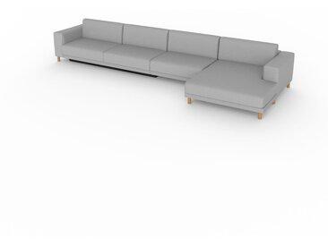 Canapé convertible - Gris Gravier, design épuré, canapé lit confortable, confortable avec coffre de rangement - 448 x 75 x 162 cm, modulable