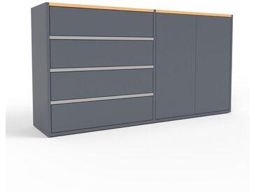 Buffet - anthracite, moderne, avec porte anthracite et tiroir anthracite - 152 x 80 x 35 cm