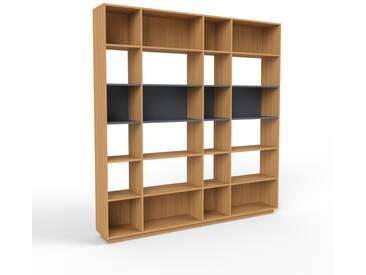 Bibliothèque en chêne, bois massif, aspect intemporel et naturel, étagère pour livres de qualité, solide et robuste - 229 x 239 x 35 cm