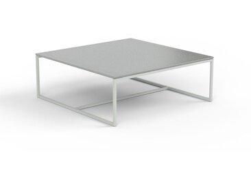 Table basse en verre clair dépoli, design industriel, bout de canapé raffiné - 81 x 30 x 81 cm, personnalisable