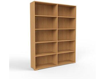 Étagère bureau en chêne, bois certifié, design scandinave, cabinet de rangement de qualité - 152 x 196 x 35 cm, personnalisable