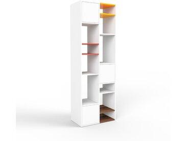 Système d'étagère - blanc, modulable, rangements, avec porte blanc - 79 x 233 x 47 cm