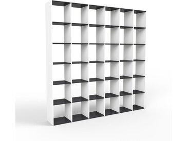 Système d'étagère - blanc, design contemporain, rangements de qualité, modulables - 233 x 233 x 35 cm, personnalisable