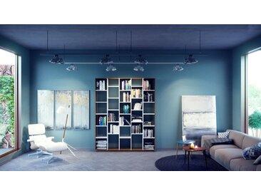 Bibliothèque - blanc, design, étagère pour livres, sophistiquée, ouverte et fonctionelle - 195 x 239 x 35 cm, personnalisable