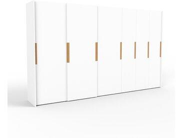 Dressing - blanc, design, armoire penderie pour chambre ou entrée, haut de gamme, avec portes coulissantes - 394 x 233 x 65 cm, modulable