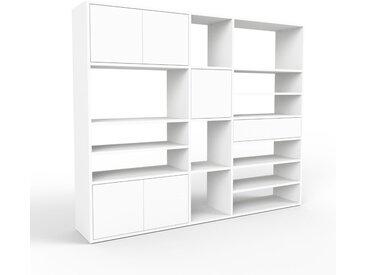 Commode - blanc, moderne, raffinée, avec porte blanc et tiroir blanc - 190 x 157 x 35 cm