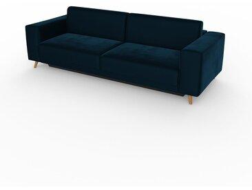 Canapé convertible - Bleu Nuit, design épuré, canapé lit confortable, confortable avec coffre de rangement - 248 x 75 x 98 cm, modulable
