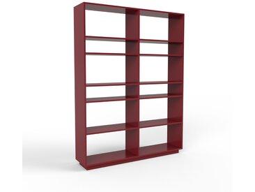 Bibliothèque - bordeaux, design, étagère pour livres, sophistiquée, ouverte et fonctionelle - 152 x 200 x 35 cm, personnalisable