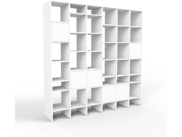 Système détagère - blanc, modulable, rangements, avec porte blanc - 233 x 233 x 47 cm