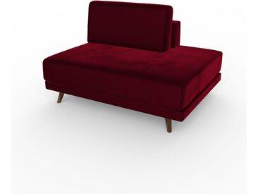 Fauteuil - Rouge Mûre, modèle épuré, grand fauteuil en tissu avec pieds personnalisables - 120 x 75 x 98 cm, modulable