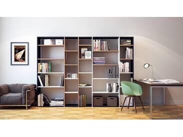 Bibliothèque   Noir, Design, étagère Pour Livres, Sophistiquée, Ouverte Et  Fonctionelle
