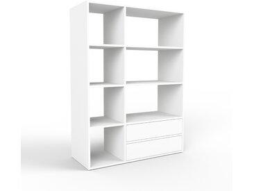 Système d'étagère - blanc, modulable, rangements, avec tiroir blanc - 116 x 157 x 47 cm
