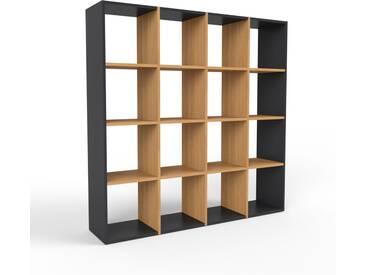 Étagère en chêne, bois massif, aspect naturel et chaleureux, rangements de qualité - 156 x 157 x 35 cm, modulable