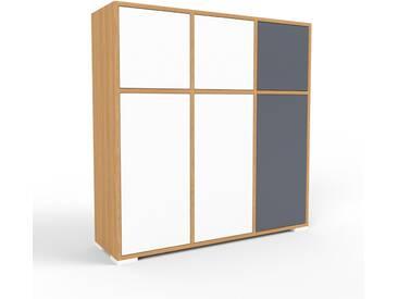 Commode en chêne, bois massif, aspect naturel, pour chambre de qualité - 118 x 120 x 35 cm