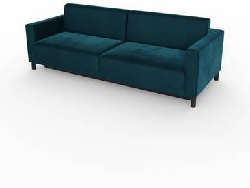 Canapé convertible - Bleu Nuit, design épuré, canapé lit confortable, confortable avec coffre de rangement - 224 x 75 x 98 cm, modulable