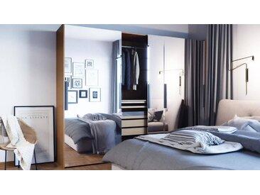 Dressing - portes coulissantes miroir, design, armoire penderie pour chambre ou entrée, haute qualité - 254 x 233 x 65 cm, modulable