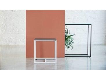 Table basse - verre fumé transparent, design, bout de canapé sophistiqué - 42 x 46 x 42 cm, personnalisable