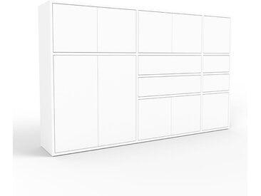 Buffet - blanc, moderne, avec porte blanc et tiroir blanc - 190 x 118 x 35 cm