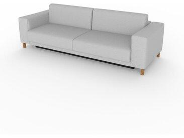 Canapé convertible - Gris Clair, design épuré, canapé lit confortable, confortable avec coffre de rangement - 248 x 75 x 98 cm, modulable