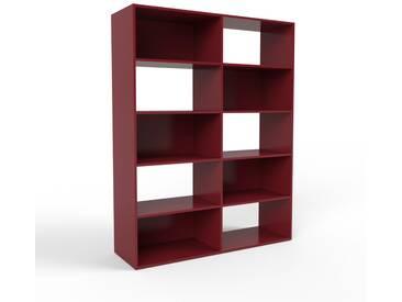 Bibliothèque - bordeaux, design, étagère pour livres, sophistiquée, ouverte et fonctionelle - 152 x 195 x 47 cm, personnalisable