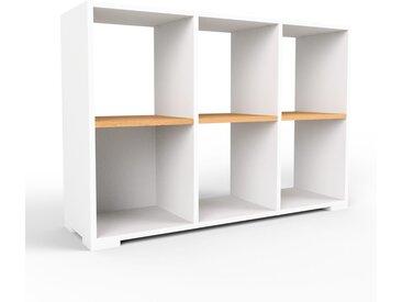 Range CD - blanc, design contemporain, meuble pour vinyles, DVD - 118 x 81 x 35 cm, personnalisable