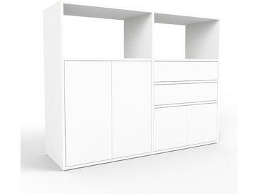 Buffet - blanc, moderne, avec porte blanc et tiroir blanc - 152 x 118 x 47 cm
