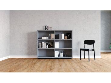 Système d'étagère - gris, design contemporain, rangements de qualité, modulables - 152 x 124 x 35 cm, personnalisable